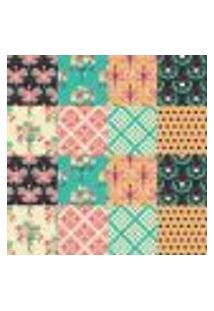 Papel De Parede Autocolante Rolo 0,58 X 3M - Azulejo Flores 28627757