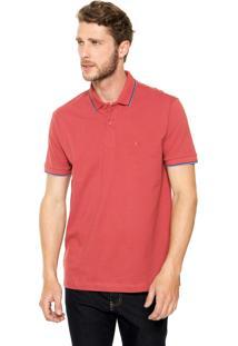 Camisa Polo Aramis Manga Curta Comfort Vermelha