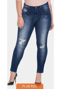 8198f67a9 Calça Jeans Com Elastano Jeans Medio