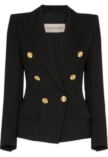Alexandre Vauthier Double-Breasted Blazer Jacket - Preto
