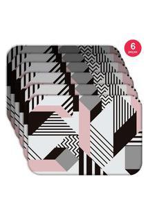Jogo Americano Love Decor Wevans Geometric Kit Com 6 Pçs