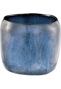 Cachepot Em Cerâmica Grande Coleção Deep Blue