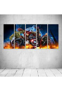 Quadro Decorativo - Art Artwork Fantasy Artistic Original (2) - Composto De 5 Quadros - Multicolorido - Dafiti