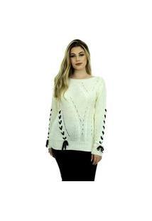 Blusa Tricot Feminina Inverno Milena Shopping Do Tricô Tranças