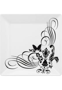 Conjunto De 6 Pratos Rasos 26,5X26,5Cm Quartier Tattoo