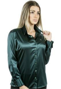 Camisa Pimenta Rosada Améllie - Feminino-Verde Escuro