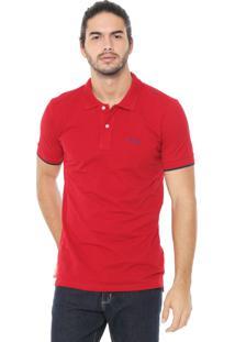 Camisa Polo Wrangler Reta Lisa Vermelha