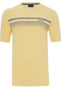 Camiseta Amarela Com Listras