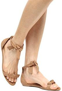 Rasteira Couro Shoestock Amarração Laço