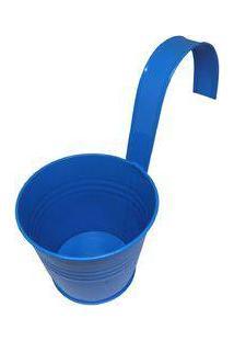 Kit Com 4 Cachepot Para Jardim Suspenso Vertical De Metal Vaso Planta Flor Azul (Cachepo-1)