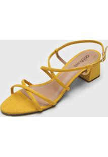 Sandália Dafiti Shoes Transpasse Amarela