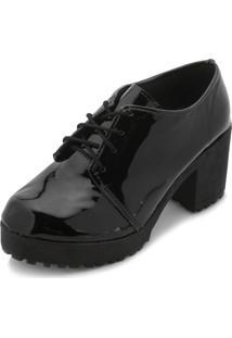 Sapato Yellow Yl18-7315 Verniz Preto-Cadarço