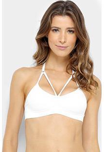 Sutiã Lupo Sem Costura Strappy - Feminino-Branco