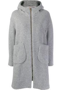 Herno Hooded Coat - Cinza