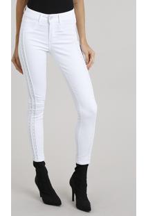 Calça Feminina Super Skinny Sawary Branca