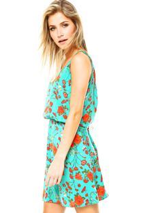 500bb887f8 ... Vestido Curto Malwee Floral Verde