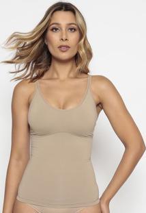 Blusa Modeladora Lisa- Bege- Bonjourbonjour