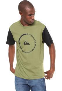 Camiseta Quiksilver Logo Verde