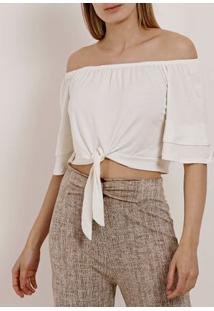 Blusa Ciganinha Feminina Branco