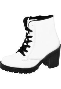 Bota Casual Cr Shoes Branca