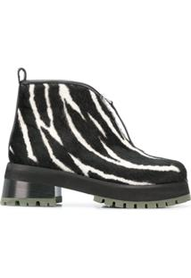 Marni Ankle Boot Animal Print - Preto