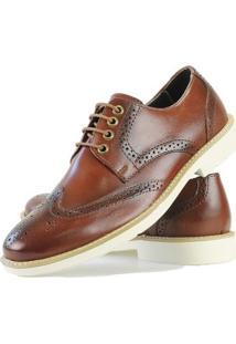 Sapato Social Oxford Casual Masculino - Masculino-Caramelo