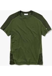 Camiseta Lacoste Masculina - Masculino-Verde Militar