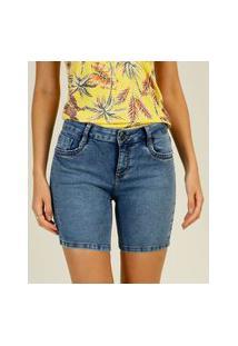 Bermuda Jeans Feminina Puídos Marisa