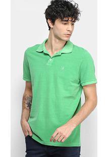Camisa Polo Derek Ho Tinturada Piquet Básica Masculina - Masculino-Verde Claro