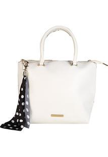 Bolsa Loucos & Santos Shopper Com Lenço Feminina - Feminino-Off White