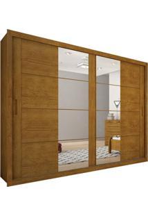 Guarda-Roupa Casal Com Espelho São Gonçalo Imbuia 2 Pt 4 Gv