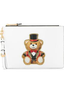 Moschino Circus Teddy Bear Clutch - Branco