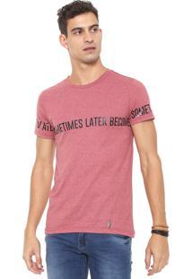 Camiseta Rock&Soda Estampada Vermelha