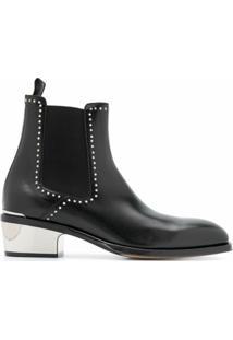 Alexander Mcqueen Ankle Boot Com Tachas - Preto