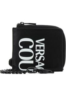 Versace Jeans Couture Carteira Mini Com Estampa De Logo - Preto