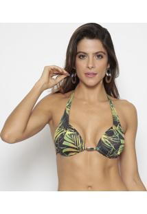 Soutien Cortininha Com Tag- Verde & Preto- Morena Romorena Rosa