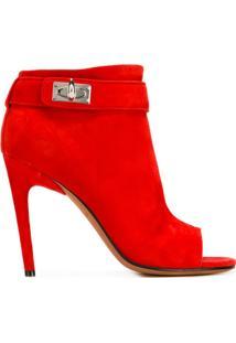 Givenchy Ankle Boot De Couro - Vermelho