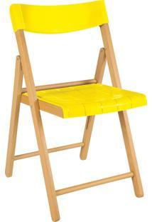 Cadeira Potenza Verniz C/ Amarelo Tramontina