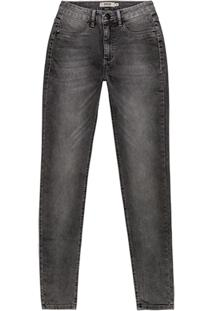 Calça Cinza Skinny Jeans Estonada