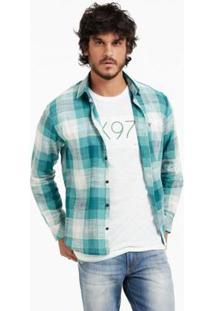 Calça Jeans Docthos Slim - Masculino-Verde