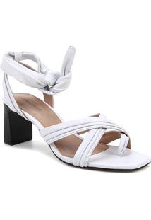 Tamanco Couro Shoestock Soft Amarração - Feminino-Branco