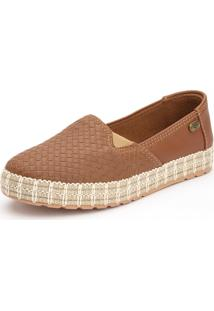 Slip On Casual Ousy Shoes Sola Corda Caramelo - Kanui