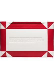 Calvin Klein 205W39Nyc Clutch De Couro Com Logo - Branco