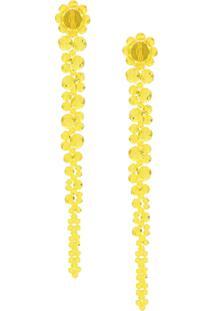 Simone Rocha Beaded Drop Earring - Amarelo