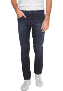Calça Calvin Klein Skinny Estonada Azul-Marinho