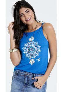 c24e1e946 Marisa. Blusa Viscose Jeans Capri Alças Feminina Azul Estampa Finas Mandala  Marisa