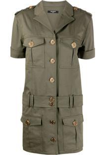 Balmain Vestido Militar - Verde
