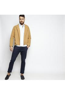 Camisa Slim Fit Com Bordado Frontal- Azul Clarovip Reserva