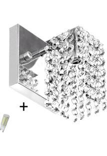 Arandela De Cristal Legitimo Clearcast Com Lã¢Mpadas 3000K (B - Prata - Dafiti