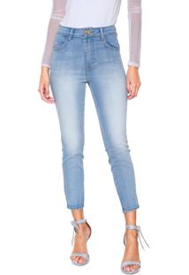 166510def ... Calça Jeans Coca-Cola Jeans Skinny Cropped Azul